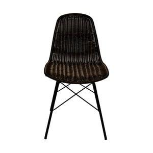 Set 2 jedálenských stoličik zo syntetického ratanu RGE Kummin