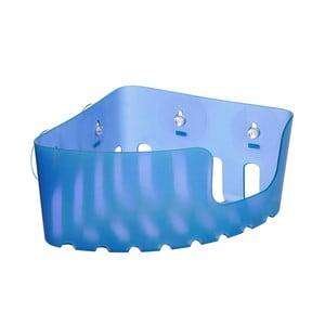 Modrý nástenný rohový kúpeľňový kôšík bez nutnosti vŕtania Ta-Tay Corner Storage Basket Standart