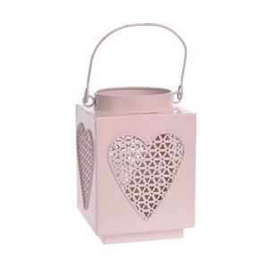 Kovový lampáš Pink Heart