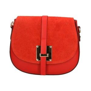 Červená kožená kabelka Roberto Buono Giulietta