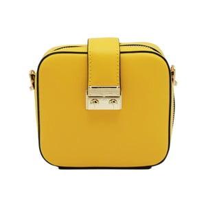 Žltá listová kabelka z pravej kože Andrea Cardone Pacco