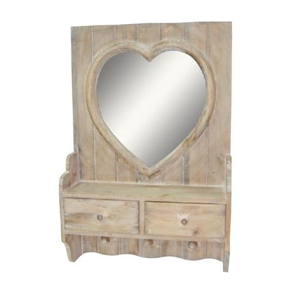Zrkadlo so zásuvkami Antic Line Heart