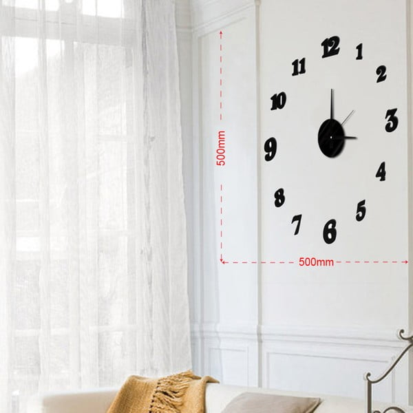 Nástenné nalepovacie hodiny Mauro Ferretti Numbers, ⌀ 50 cm