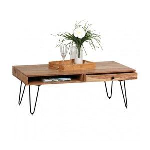 Konferenčný stôl so zásuvkou z masívneho akáciového dreva Skyport BAGLI