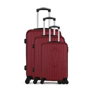 Sada 3 vínových cestovných kufrov na kolieskach VERTIGO Cadenas Integre Roues