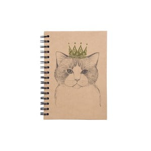 Špirálový zápisník Tri-Coastal Design Queen Cat
