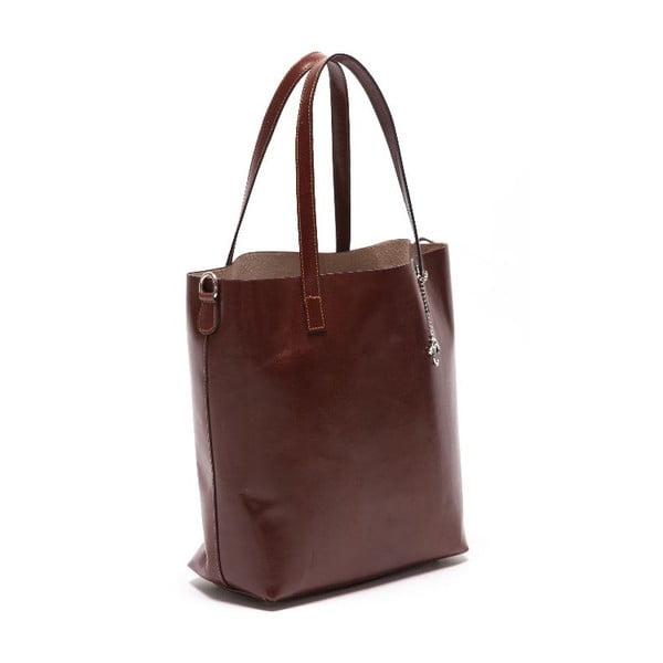 Kožená kabelka Beatriz, tmavohnedá