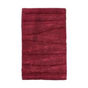 Vínovočervená kúpeľňová predložka Zone Flow, 50 x 80 cm