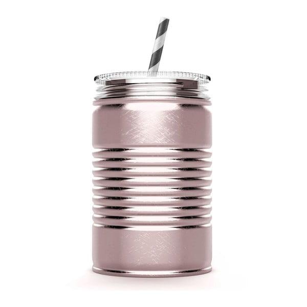 Ružový termohrnček I Can Asobu,540ml