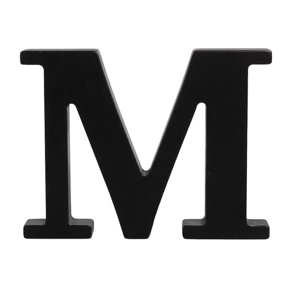 Čierne drevené písmeno Typoland M