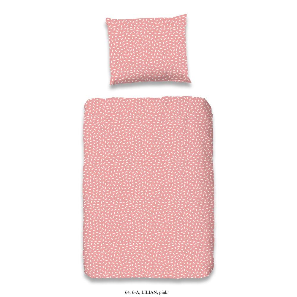 Detské ružové obliečky z bavlny Good Morning Lilian
