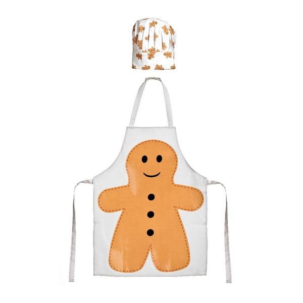 Detský set zástery a čiapky Gingerbread