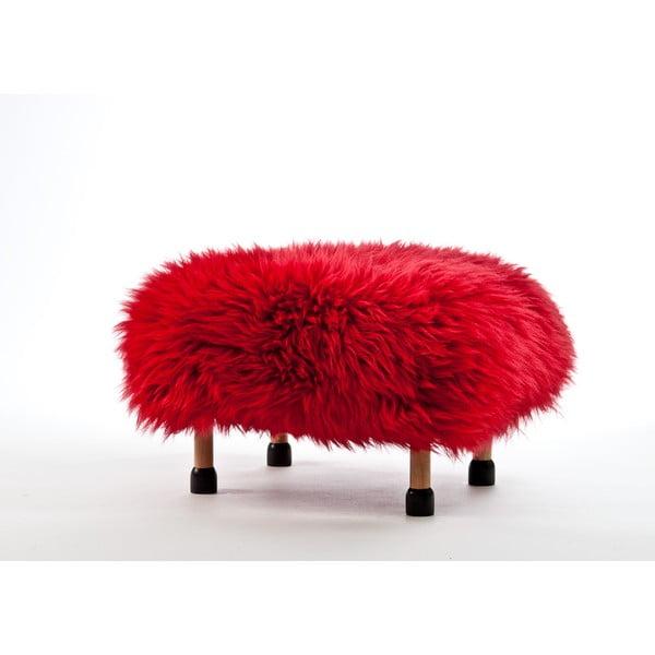 Stolička z ovčej kože Nia Dragon Red
