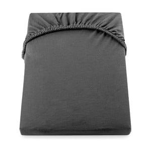 Tmavosivá elastická plachta DecoKing Nephrite, 220-240 cm