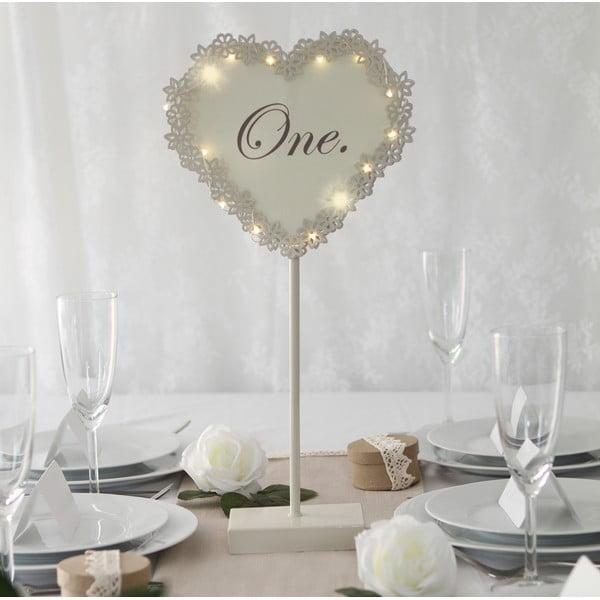 Svadobná dekorácia na stôl s LED svetielkami One