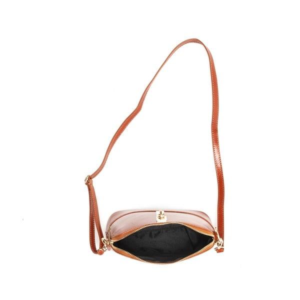 Kožená kabelka Renata Corsi 3004 Cognac