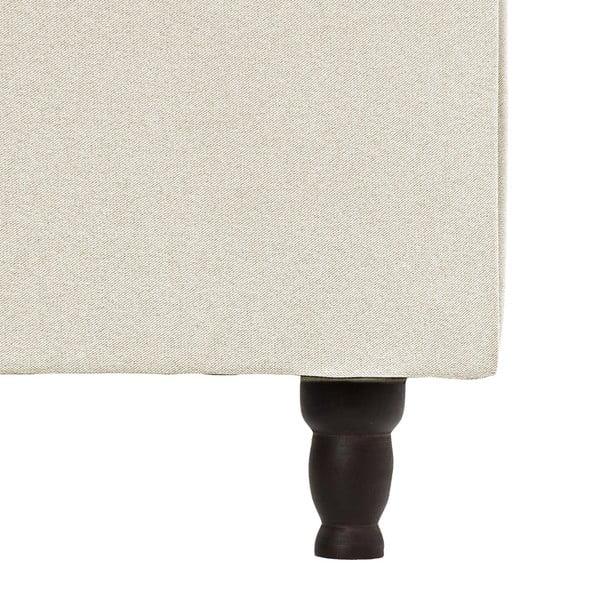 Béžová posteľ VIVONITA Allon 140x200cm, čierne nohy
