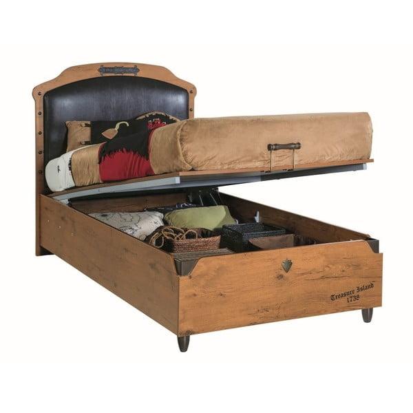 Jednolôžková posteľ s úložným priestorom Pirate Bed With Base, 100 × 200 cm