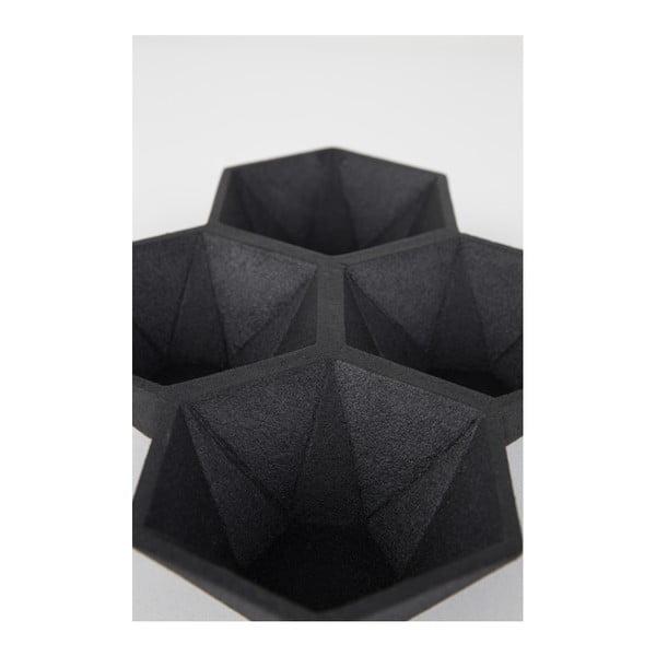 Čierny podnos Zuiver Hexagon