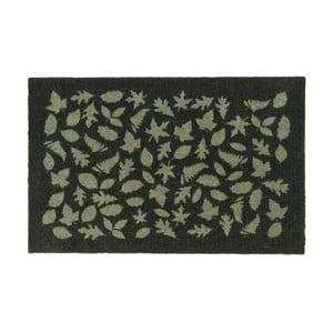 Tmavozelená rohožka Tica Copenhagen Leafes, 60 x 90 cm