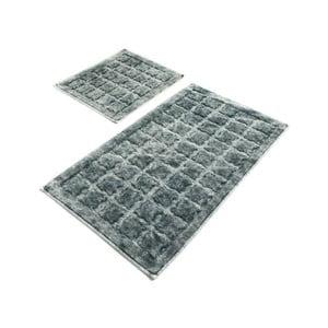 Sada 2 sivých bavlnených kúpeľňových predložiek Confetti Bathmats Jean Grey