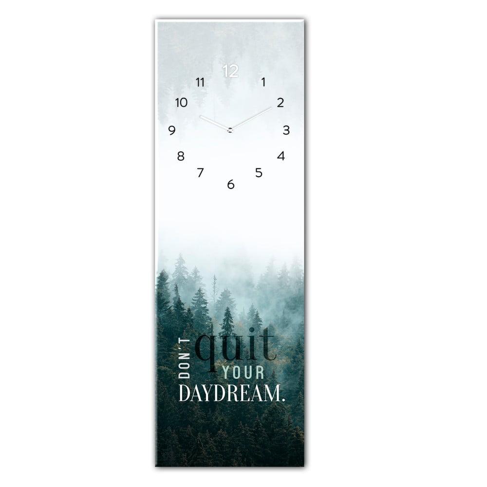 Sklenené nástenné hodiny Styler Daydream, 20 x 60 cm