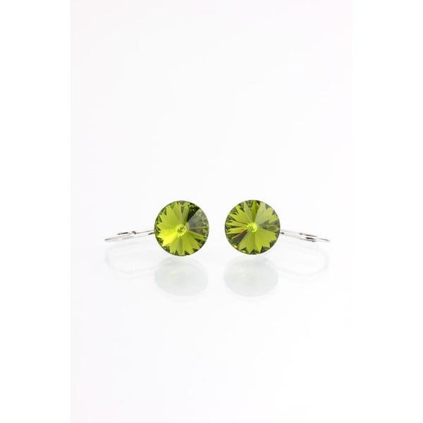 Zelené náušnice s krištáľmi Swarovski® Yasmine Longie