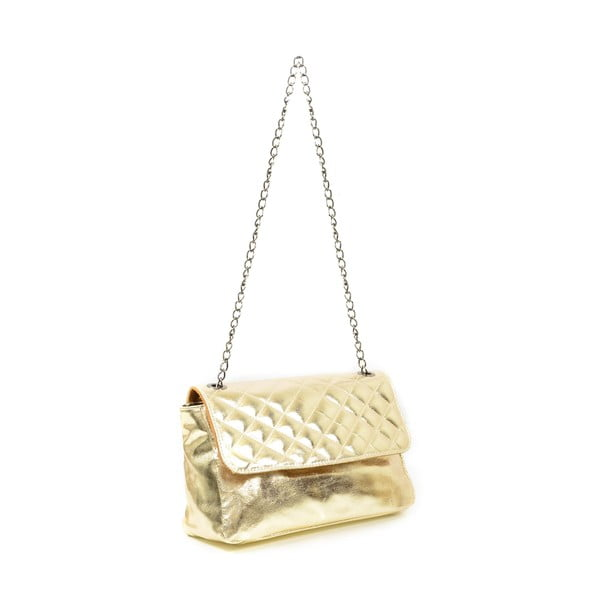 Kožená kabelka Bella, zlatá
