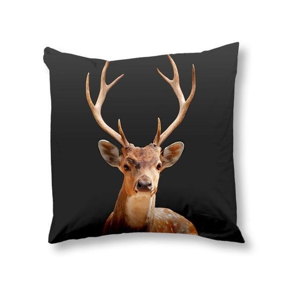 Obliečka na vankúš Muller Textiels Deer Anthracite, 50 x 50 cm