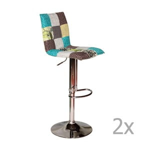 Sada 2 patchworkových barových stoličiek Woodjam Coctail