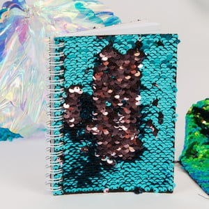 Tyrkysový zápisník s flitrami Now or Never Mermaid Tales, 100 stránok