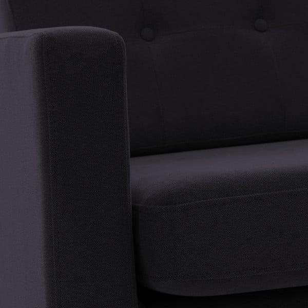 Tmavosivá dvojmiestna pohovka VIVONITA Sondero, čierne nohy