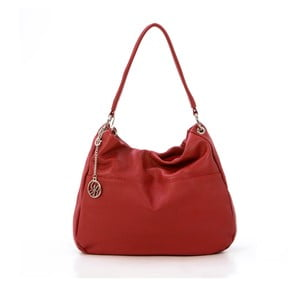Kožená kabelka Alessandro, červená
