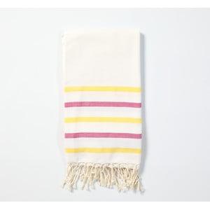 Hammam osuška z ručne tkanej bavlny ZFK Fabian, 170 x 100 cm