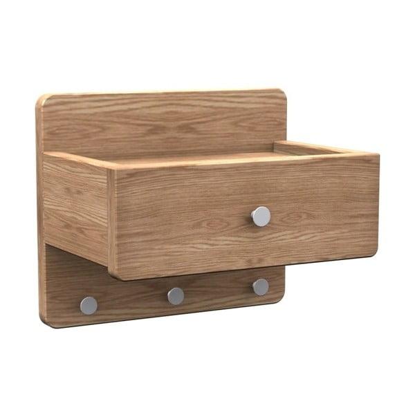Nástenná polička z dubového dreva Folke Tram