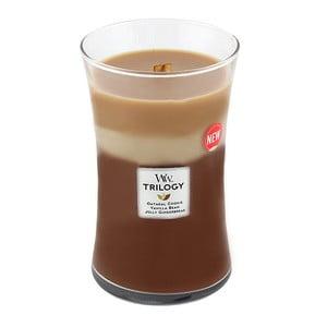 Sviečka s vôňou škorice, ovsa a mandľového mlieka Woodwick Trilogy Sladkosti, doba horenia 130 hodín