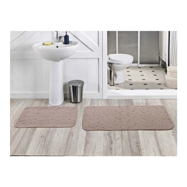Sada 2 kúpeľňových koberčekov Milas Vizon, 50x60 cm + 60x100 cm