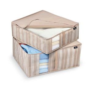 Sada 2 úložných boxov Domopak Stripes