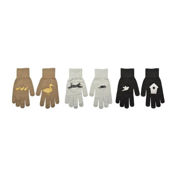 Sada 3 párov rukavíc na dotykové telefóny Esschert Design