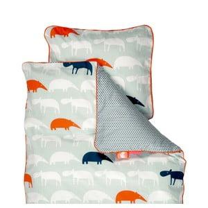Detské modré obliečky Done By Deer Zoopreme, 80×100cm