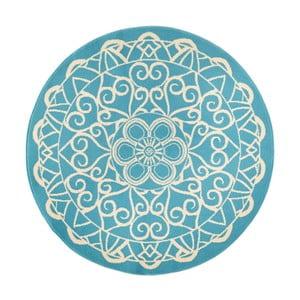 Modrý okrúhly koberec Zala Living Capri, ø200cm