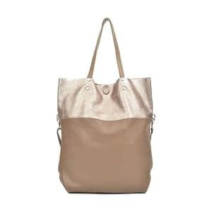 Béžová kožená kabelka Carla Ferreri Muserro