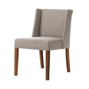 Sivohnedá stolička s tmavohnedými nohami Ted Lapidus Maison Zeste
