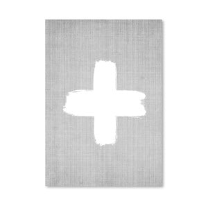 Plagát Cross On Grey
