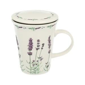 Porcelánový hrnček s filtrom Duo Gift Lavender, 250 ml