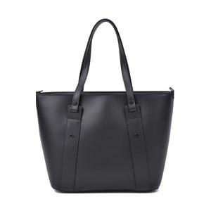 Čierna kožená kabelka Roberta M Misie