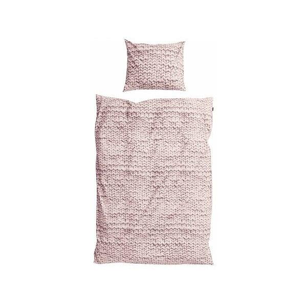 Ružové bavlnené obliečky Snurk Dusty, 140 x 200 cm