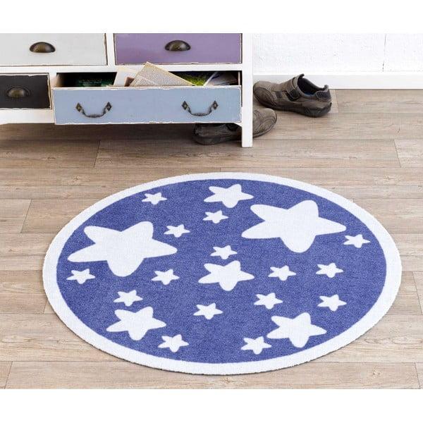 Detský fialový koberec Hanse Home Hviezdy, ⌀100cm