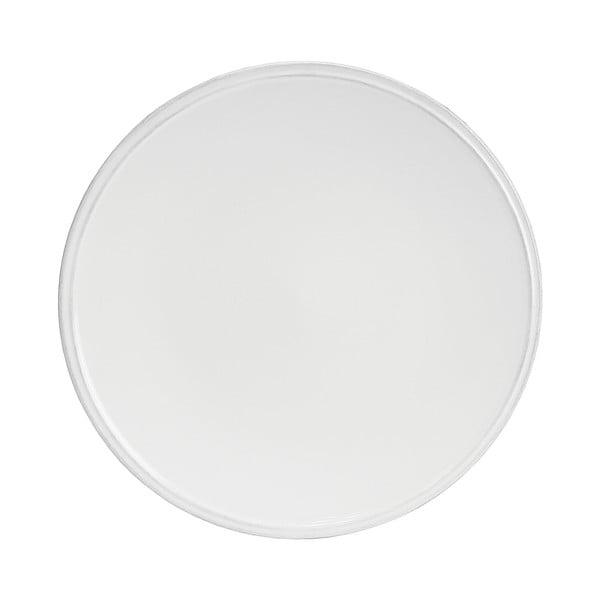 Biely kameninový tanier Costa Nova Friso, ⌀28cm