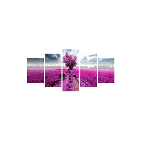 5dielny obraz Uprostred fialovej